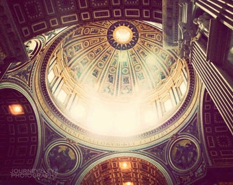 Rome photograph, Italy photo, Vatican, travel photography, St. Peter's Basilica, architecture - The Dome