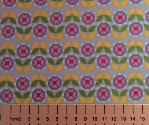 High quality cotton poplin printed in Japan. Retro print