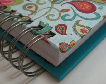 Planner - Pocket Size - Agenda - Weekly Planner - Organizer Planner - Weekly Agenda - Unique Planners - Organizer - Wirebound - Paisley Bird