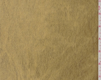 Golden Brown Faux Fur, Fabric By The Yard