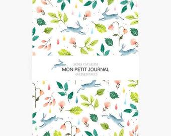 Notebook lapin, A6, cahier, carnet, carnet de note, petit cahier, carnet ligné, cadeau d'anniversaire, papeterie fleurie, liberty, noël