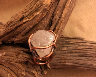 Raw Brazilian Quartz Ring