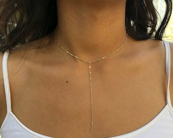 Chain y necklace / Sterling silver/ 14k gold filled/ minimalist