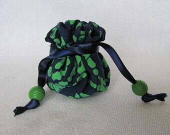Travel Jewelry Bag - Mini Size - Fabric Jewelry Pouch - Drawstring Pouch - Jewelry Tote - WAHOO