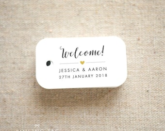 Welcome Wedding Favor Tags - Destination Wedding Personalized Gift Tags Bridal Shower Party Thank you tags - Set of 30 (Item code: J623)