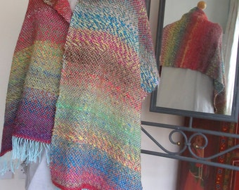 japanese spring morning - a hand-woven shawl