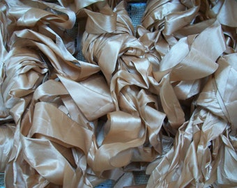 """Ribbon """"GOLD CHAMPAGNE"""" 12yds WIDE"""