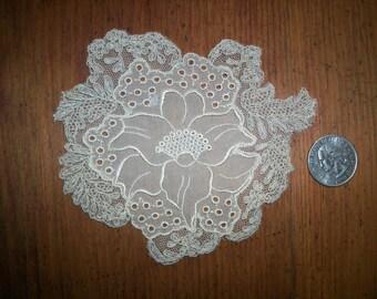 silk 1920s antique lace applique