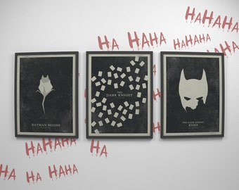 Batman Posters ~ Batman Gifts, Batman Cowl, Minimalist Poster, Gifts for Him, Boyfriend Gift, Minimal Movie Poster, Art Print