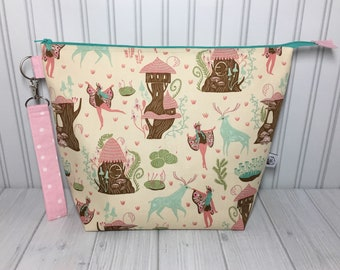 Large Wedge Bag with Handle - Woodland Nymphs