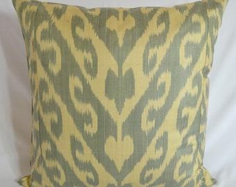 IKAT PILLOW. 20 x 20 inch. Silk cotton Uzbek Ikat Pillow cover