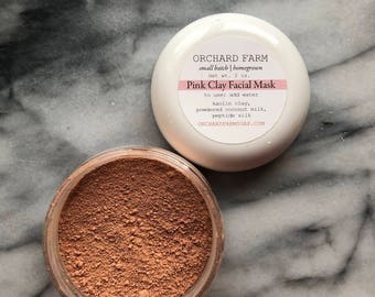 Pink Kaolin Facial Mask//cleansing grains//spa treament