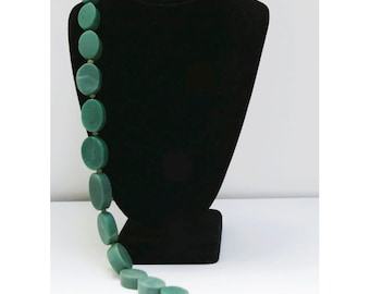 """Green Serpentine 17"""" Bead Strand, 10mm Roundelles, Natural and Handcut, SERP4"""
