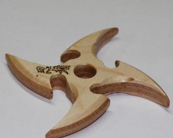 Toy wooden shuriken