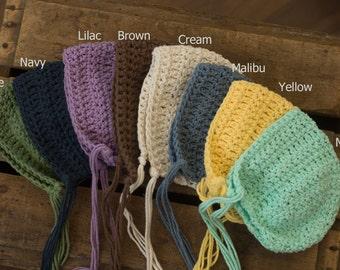 Newborn Crochet Bonnet - Photography Prop