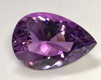 Vintage AMETHYST Loose Faceted Pear Shape Gemstone 29.37 cts FG251