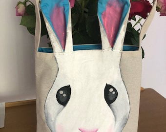 Easter Bunny bag *TOTES ADORBS* Turquoise inner