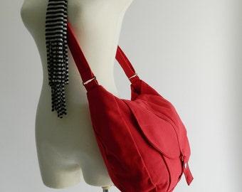 Mother days -Red messenger bag, back to school, Travel Shoulder bag ,women cross body bag,diaper bag, gift for her/ sale - 25% - no.12 KYLIE