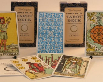 Tarot card Deck The Original Rider Waite Cards and guide book-  includes free velvet pouch