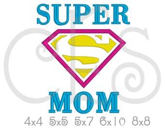Super MOM applique design, Mom embroidery, Fathers Day applique design,