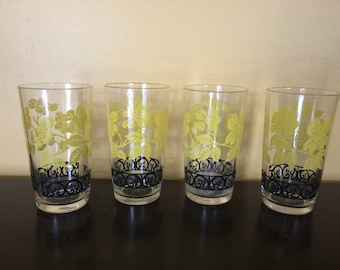 Set of Four Federal Glass Drinkware