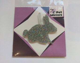Glitter acrylic Rabbit/Bunny Style 2 Christmas decoration - 9 colour choices