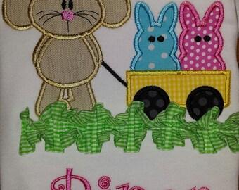 Bunny Rabbit Peeps Easter custom embroidery