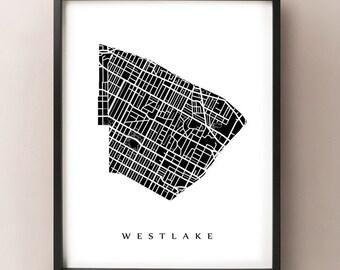 Westlake, Los Angeles Neighborhood Art Print