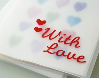 "With Love Design 9""x12"" Personalized Portfolio to organize kids art and cards"