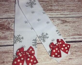 Christmas Snowflake leg warmers, Christmas leg warmers, red and green polka dot, baby leg warmers, toddler leg warmer