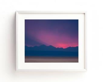"landscape photography, mountains, sky, large art, large wall art, sunset, fine art print, canvas wall art, sunset - ""Mountain Standard Time"""