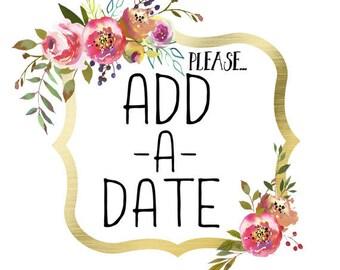 Add a Date to a glass