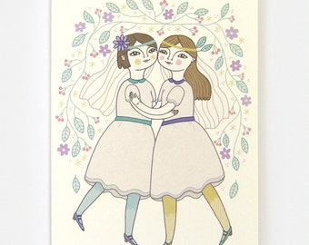 Girl Wedding - Greeting Card
