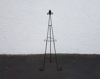 Black Brown Easel Melbourne HIRE. Cast Iron Easel. Sign Stand. Wedding Decoration. Signage Display. Sign Holder. Party Decorations.