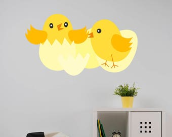 Baby Chicks Easter Wall Sticker