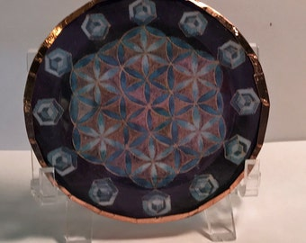 Turquoise Crystal Disc