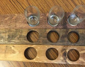 The Original Three Glass Beer Flight/ Stave flight/ Beer tasting set/ Beer server