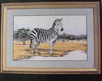 cross stitch Kit counted janlynn: Zebra