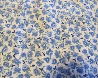 Free Shipping! Blue and White Calico. 1/2 Yard. 17082