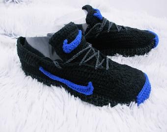 Crochet Shoes Crochet slippers  Crochet Sneakers Crochet house shoes, Hand knit slippers, Kids slippers, Bedroom slippers, Women slippers,