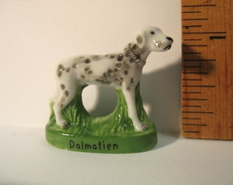 Dalmation Dog Hand Painted Porcelain  - French Feve Feves Doll House Figurines Miniatures dogs puppy puppies N1