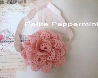 Pink Baby headband, baby flower headband, newborn headband, girl headband, Toddler Headband, Pink Flower Headband, Baby head band flower