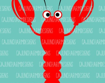 Cute Crawfish SVG, silhouette cricut cut file
