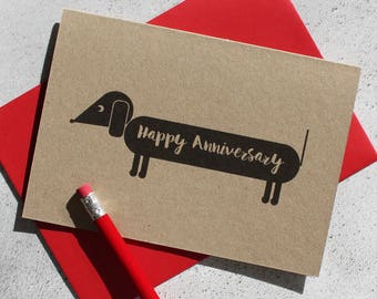 Dog Themed Anniversary Card