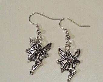 Fairy Antique Silver Earrings Single Pair