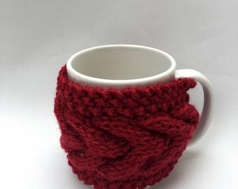 mug cozy knitted mug warmer red cup cozy