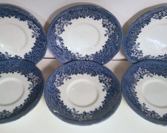 Vintage Romantic England Warwickshire Anne Hatheway's Cottage Saucer Plates
