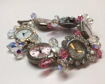 Six times the time Swarovski Crystal Watch