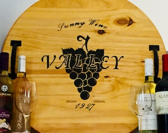 Personalized Wine Barrel Tray | Personalized Serving Tray |