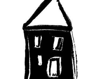 Stampington And Co Wooden Rubber Stamp This Old House Bold Sketch